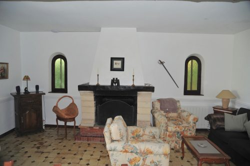 Villa-Rental-Provence-Mas-du-Chene-Livingroom-with-Fireplace