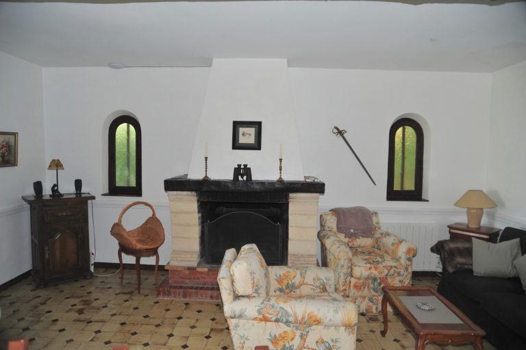 Villa-Rental-Provence-Mas-du-Chene-Livingroom-with-Fireplace
