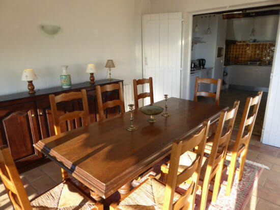 Holiday-Home-France-La-Verand-dining Room